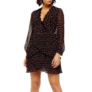 NEW TOPSHOP Pleated Ruffle Floral Dress US12